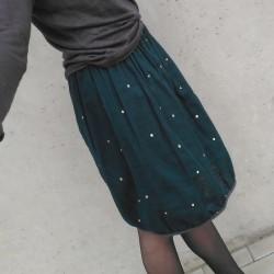 """sukně dámská """"zlaté tečky černá"""" dvojitá gázovina vel. S-M"""